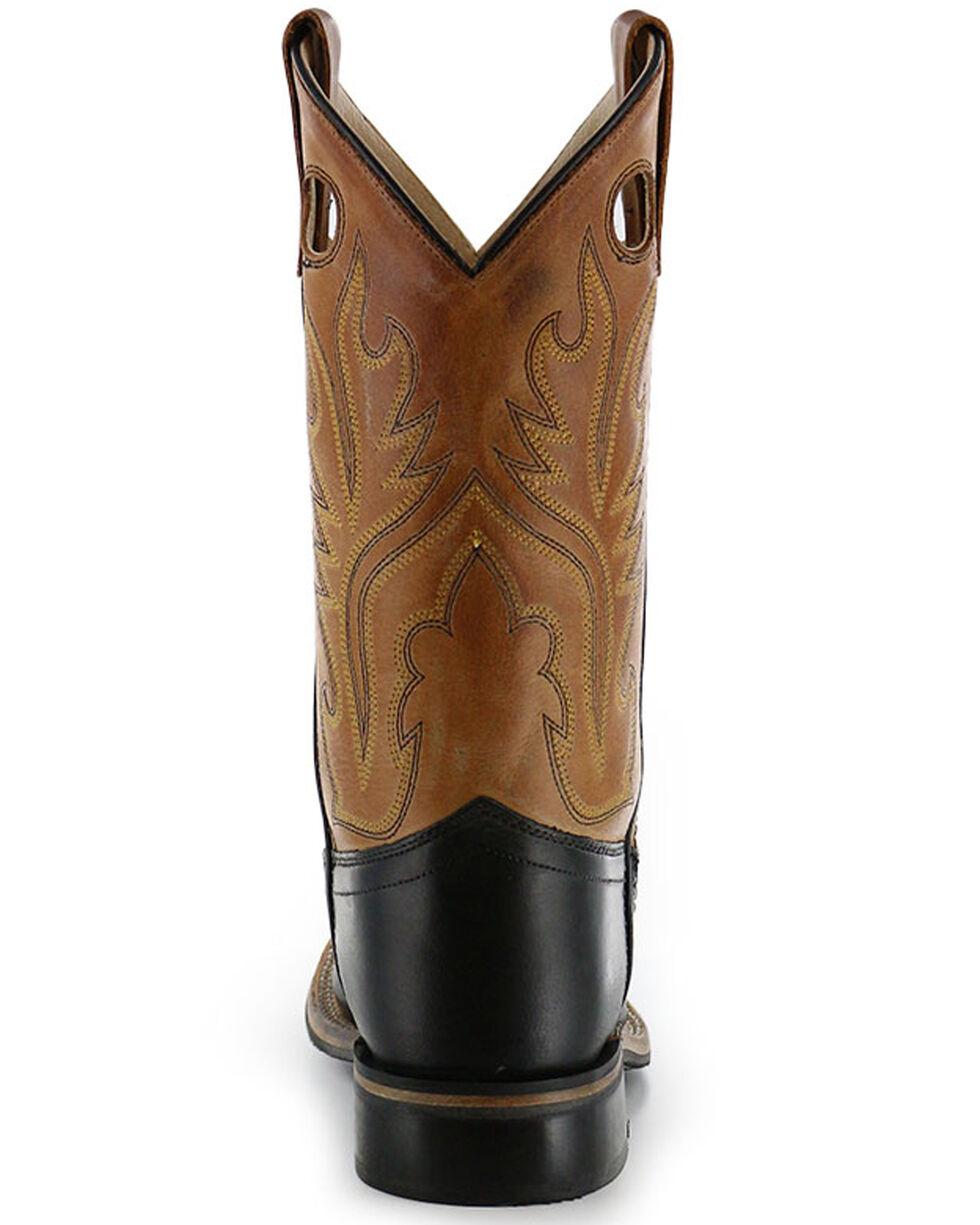Old West Boys' Black Canyon Tan Cowboy Boots - Square Toe, , hi-res