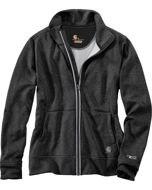 Carhartt Women's Force Extremes Zip Front Sweatshirt, Black, hi-res