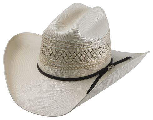 Tony Lama Cattleman Two-Tone Straw Cowboy Hat, Two Tone, hi-res