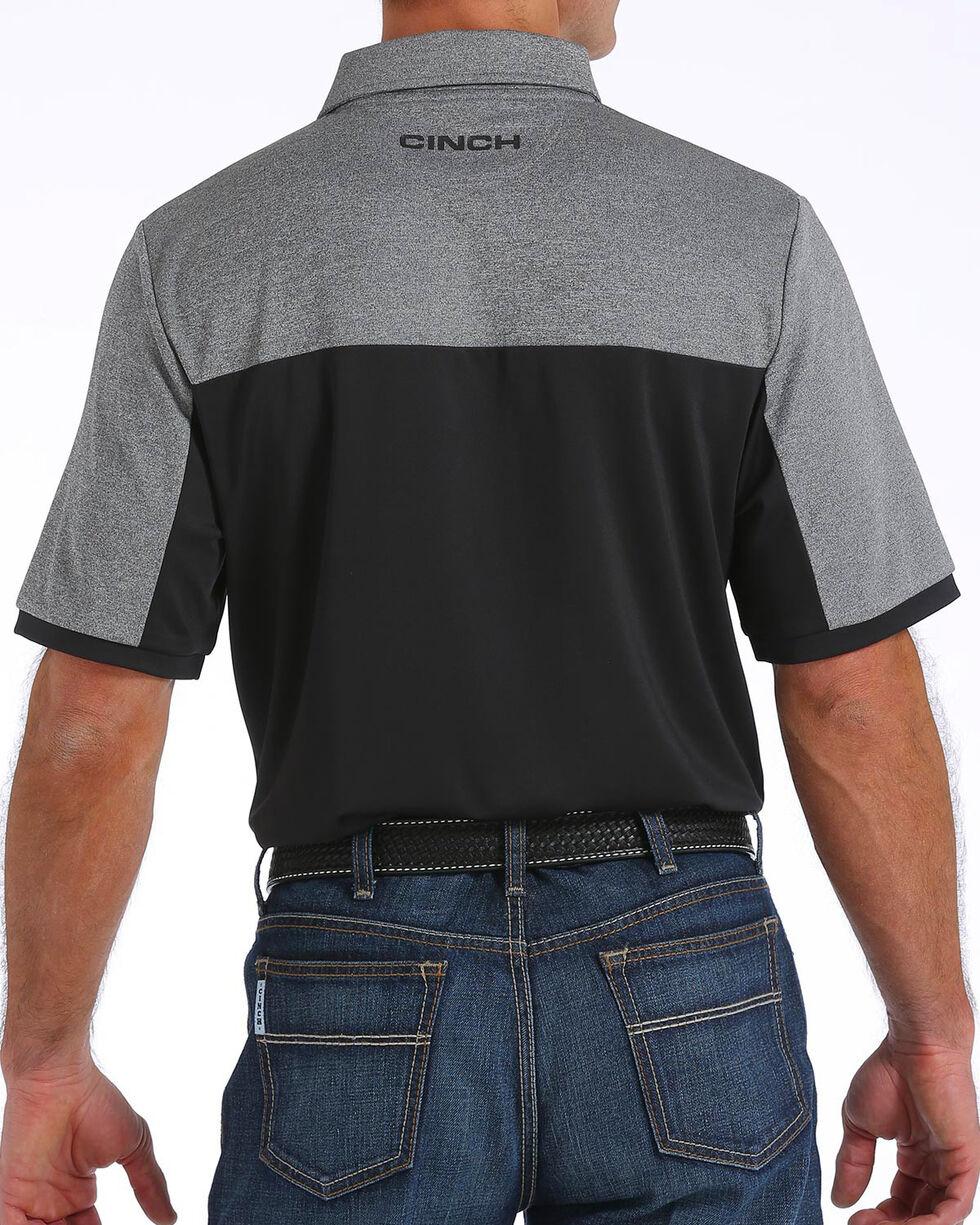 Cinch Men's ArenaFlex Color Block Tech Polo, Black, hi-res