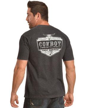 Cowboy Hardware Men's Charcoal Cowboy Breed Short Sleeve Tee , Charcoal, hi-res