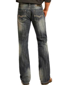 Rock & Roll Cowboy Men's Pistol Medium Wash Jeans - Boot Cut , Blue, hi-res