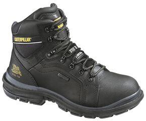 "Caterpillar 6"" Manifold Waterproof Lace-Up Work Boots - Steel Toe, Black, hi-res"