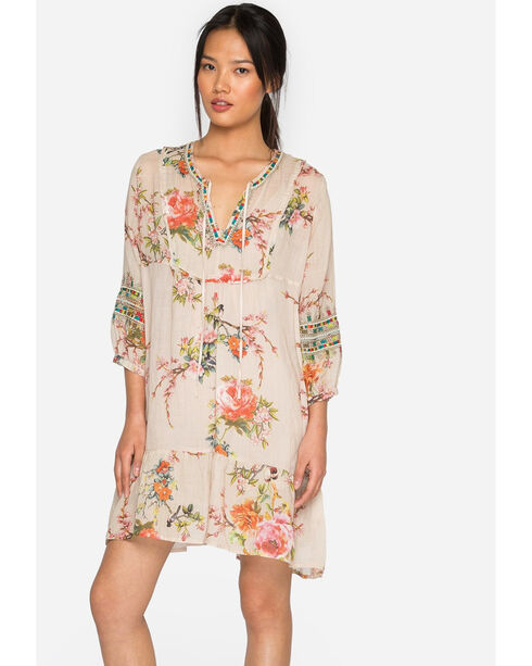 Johnny Was Women's Boho Tunic Dress, Light Pink, hi-res