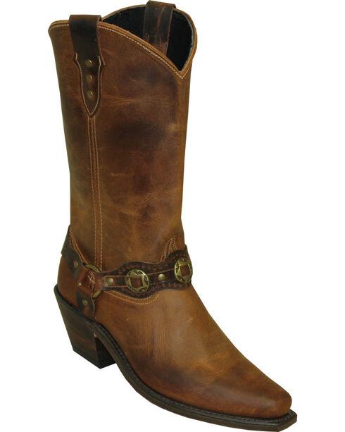 Sage by Abilene Women's Cowhide Contrasting Bracelet Western Boots - Snip Toe, Brown, hi-res