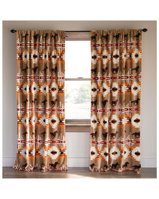 Carstens Home Free Rein Western Curtain Panels - Two Set , Multi, hi-res
