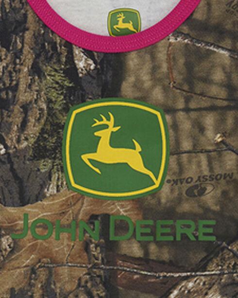 John Deere Infant Girls' Camo Trademark Onesie , Camouflage, hi-res