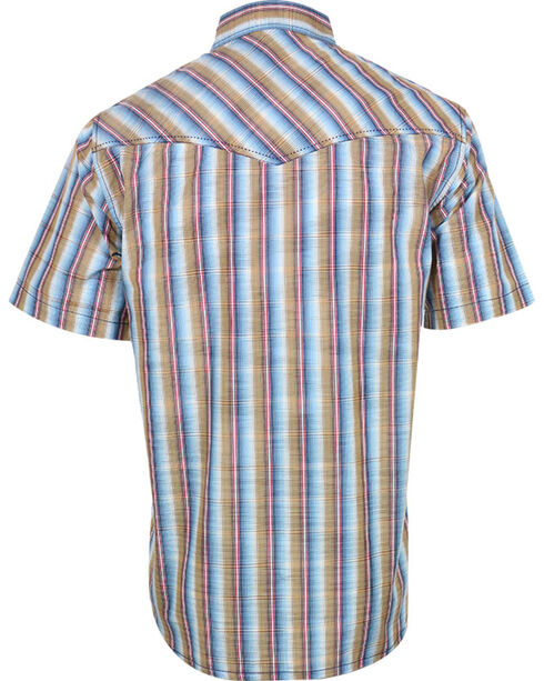Cody James® Men's Plaid Short Sleeve Western Shirt, Brown, hi-res