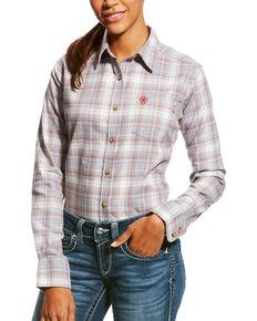 0a3fcb311e47 Ariat Womens FR Jolene Long Sleeve Button Down Work Shirt