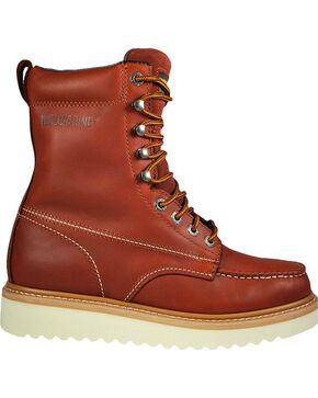 "Wolverine Men's 8"" Moc-Toe Work Boots, Rust Copper, hi-res"