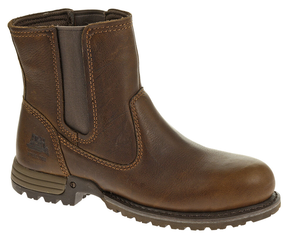 Caterpillar Freedom Pull On Work Boots - Steel Toe, Oak, hi-res