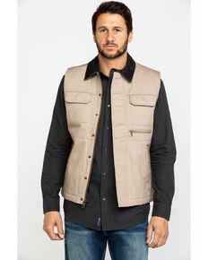 Cody James Men's Tan Ranchero Timberwolf Canvas Vest , Tan, hi-res