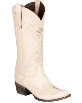 Lane Wedding Cowgirl Boots - Snip Toe, Ivory, hi-res