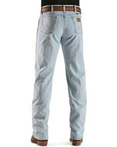 Wrangler 13MWZ Jeans Cowboy Cut Original Fit Prewashed Jeans , Bleach Indigo, hi-res