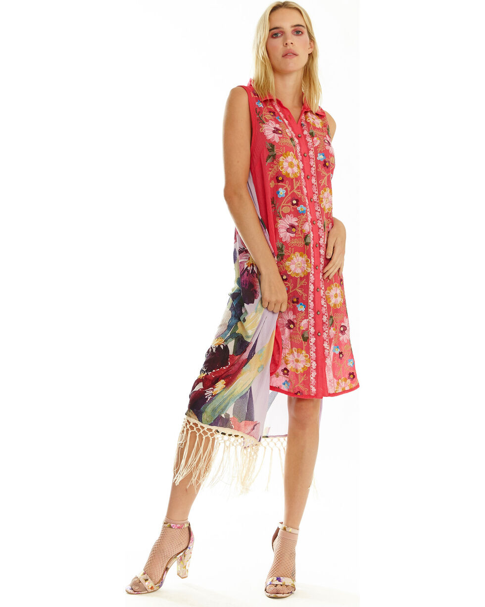 Aratta Women's Washed Irishes Dress, Fuscia, hi-res