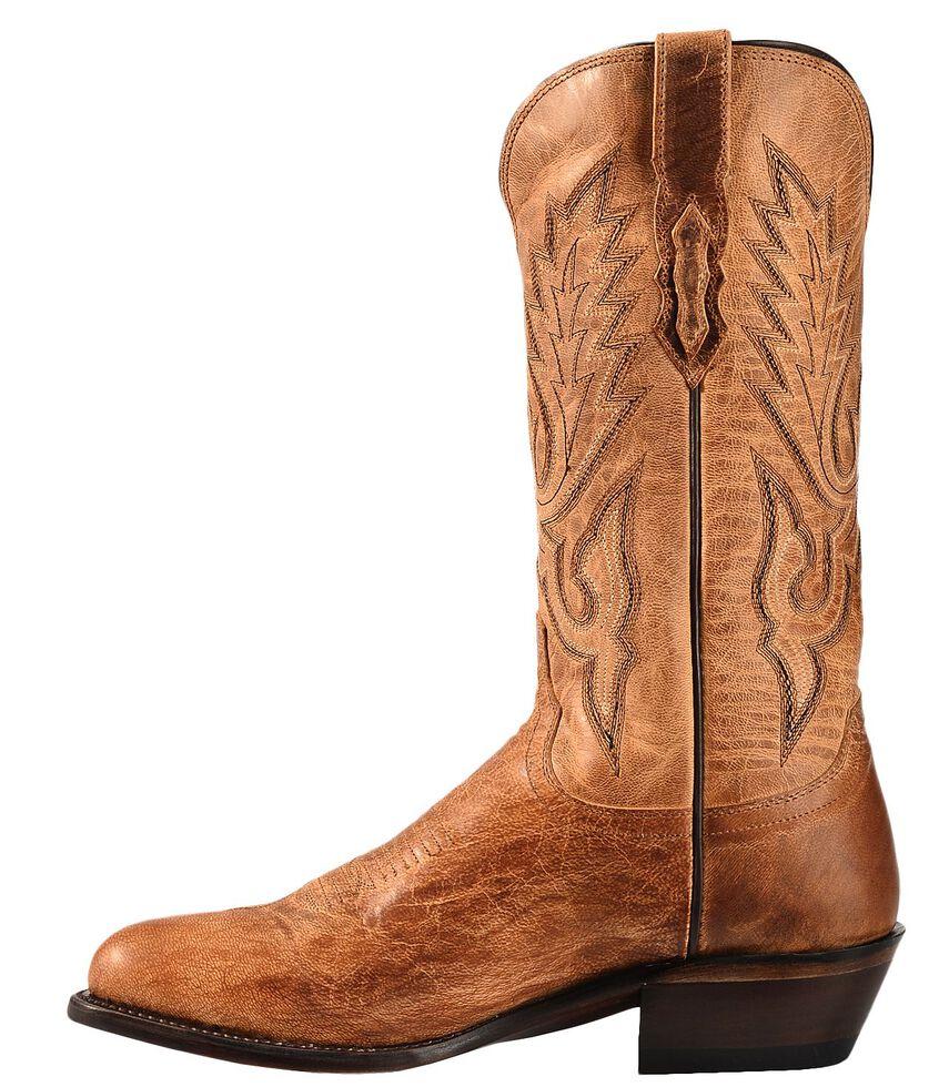 76561cd2408 Lucchese Handmade 1883 Tan Mad Dog Goatskin Cowboy Boots - Medium Toe