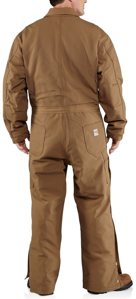 Carhartt Flame Resistant Quilt-Lined Duck Coveralls, Carhartt Brown, hi-res
