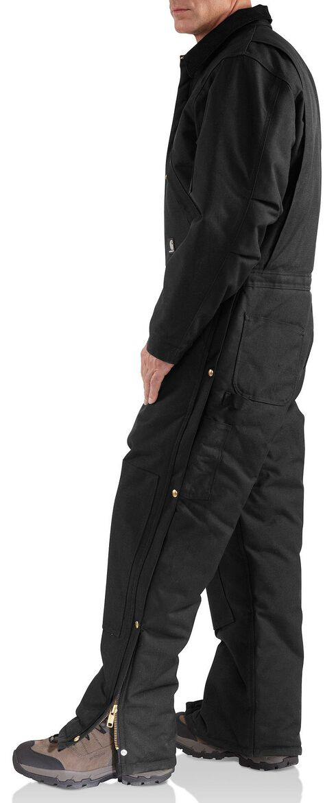Carhartt Yukon Extremes® Arctic Quilt Lined Work Coveralls, Black, hi-res