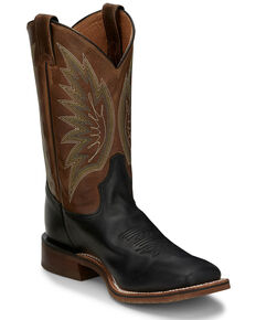 Tony Lama Men's Brayden Black Western Boots - Wide Square Toe, Black, hi-res