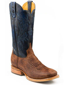 Tin Haul Men's Howdy & Rowdy Western Boots - Square Toe, Tan, hi-res