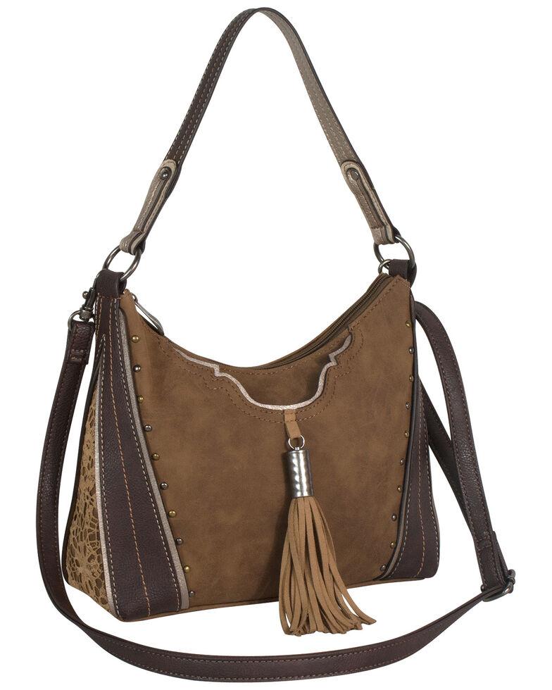 Justin Women's Fringe Lace Saddle Bag, Brown, hi-res