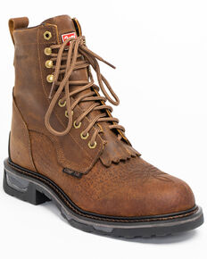 Tony Lama Men's Sierra Badlands Waterproof Work Boots - Composite Toe, Brown, hi-res