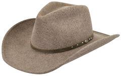 Wind River by Bailey Men's Gleeson Brown Felt Hat, Brown, hi-res