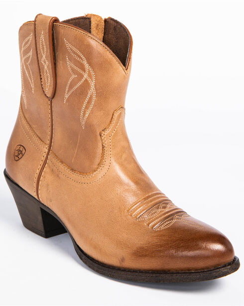 Ariat Women's Darlin Booties - Round Toe , Brown, hi-res