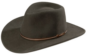 Stetson Gallatin Sage Green Crushable Wool Felt Hat, Sage, hi-res