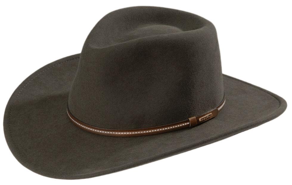 Stetson Gallatin Sage Green Crushable Wool Felt Hat  2c5c08980c9b