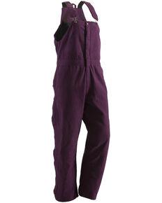 Berne Women's Washed Insulated Bib Overalls - Regular, Plum, hi-res