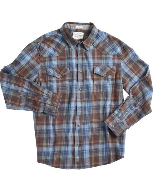 Cody James Men's Towhee Long Sleeve Shirt , Blue, hi-res