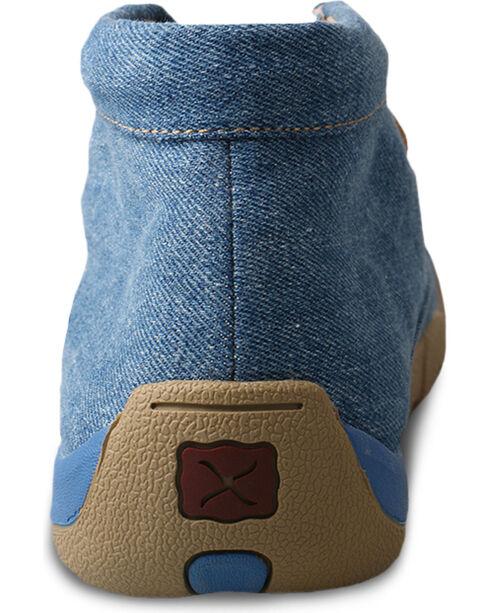 Twisted X Men's Blue Denim Driving Moccasins - Moc Toe, Blue, hi-res