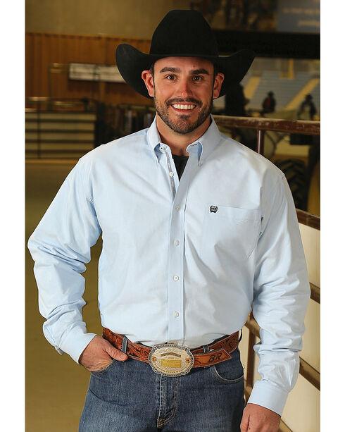 Cinch Men's Classic Fit Solid Oxford Weave Western Button Down Shirt - Big, Light/pastel Blue, hi-res