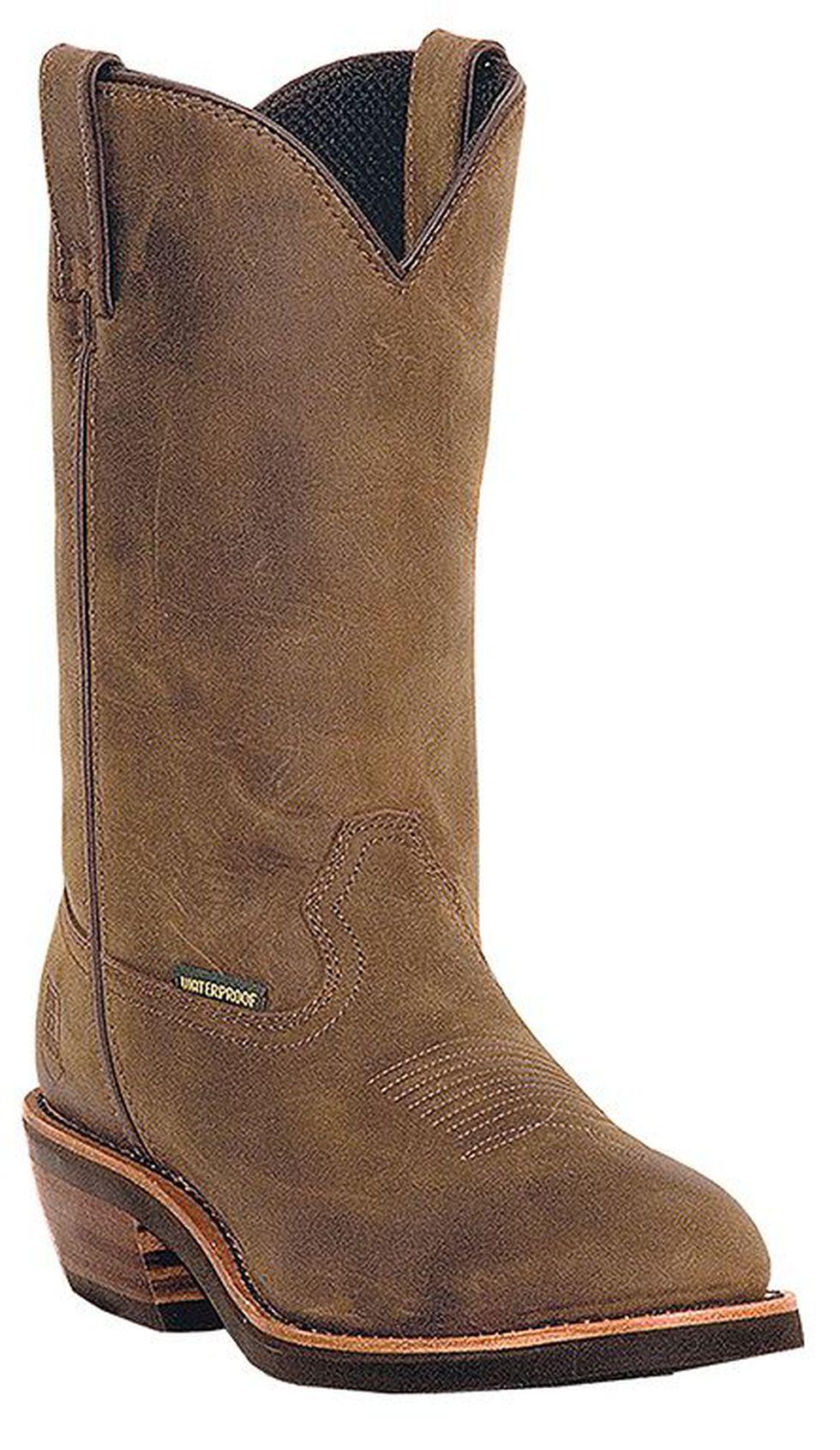 Dan Post Albuquerque Waterproof Pull-On Work Boots - Steel Toe, Tan, hi-res