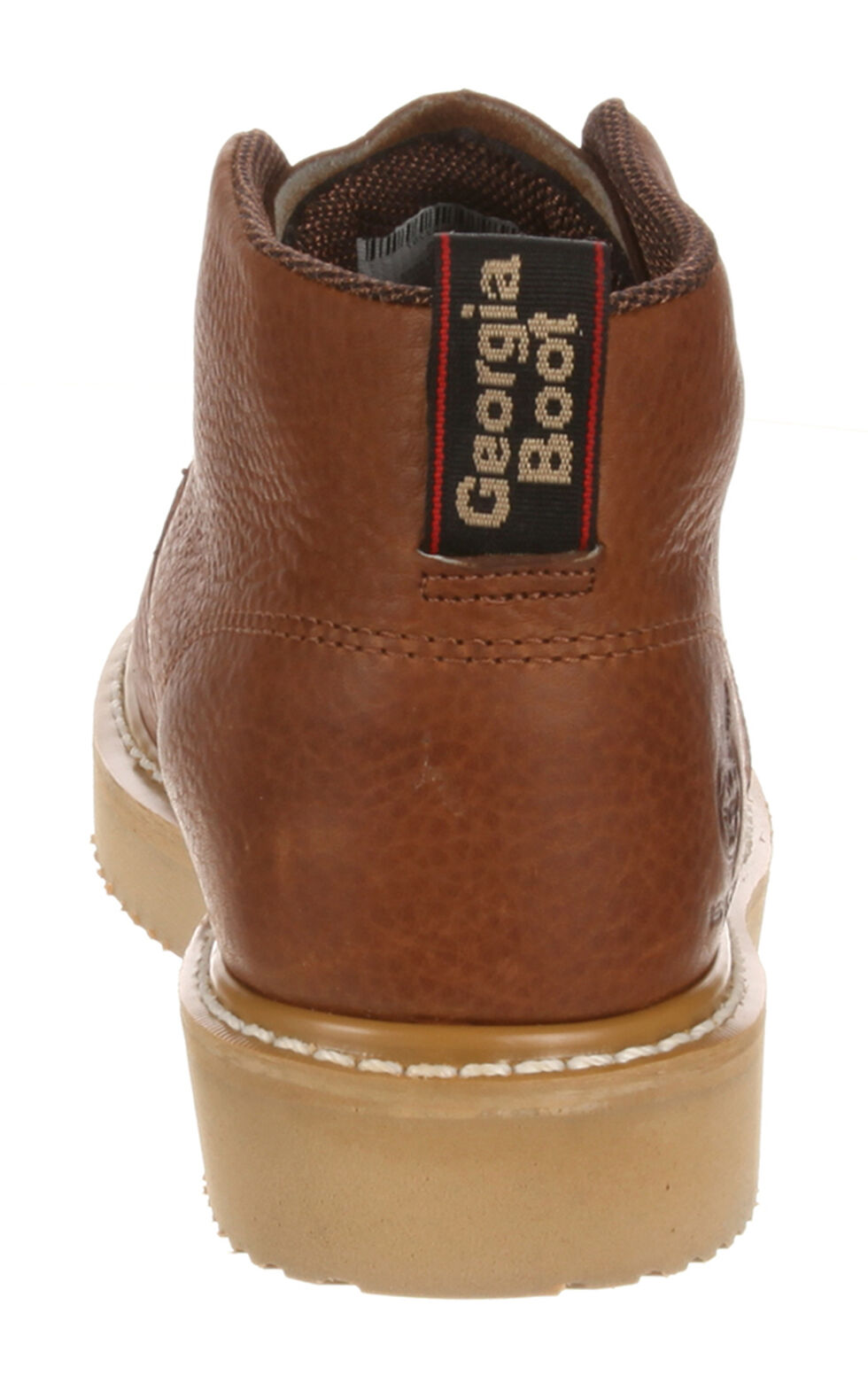 Georgia Farm and Ranch Chukka Work Boots - Round Toe, Brown, hi-res
