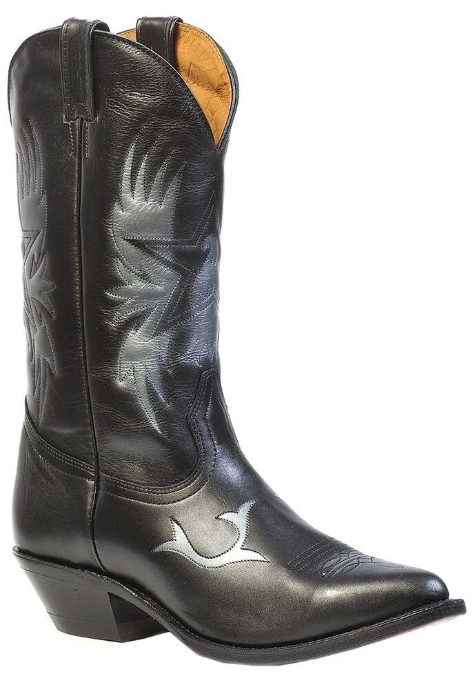 Boulet Men's Challenger Cowboy Star Western Boots - Medium Toe, Black, hi-res
