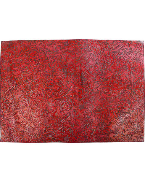 BB Ranch Red Engraved Filigree Placemats, No Color, hi-res