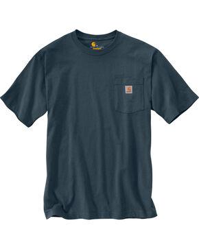 Carhartt Short Sleeve Pocket Work T-Shirt - Big & Tall, Blue Stone, hi-res