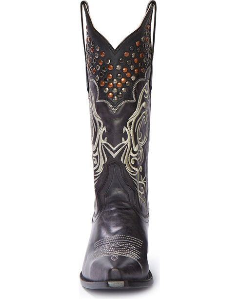 Stetson Women's Lila Studded Embroidered Western Boots - Snip Toe, Black, hi-res