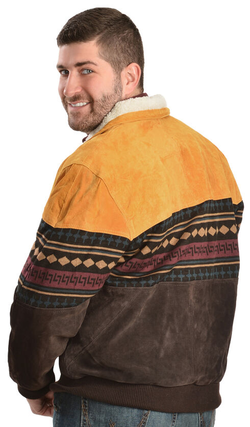 Vintage Leather Aztec Border Jacket, , hi-res