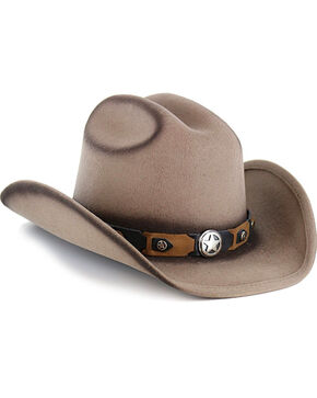 Cody James Boys' Yearling Wool Hat, Tan, hi-res