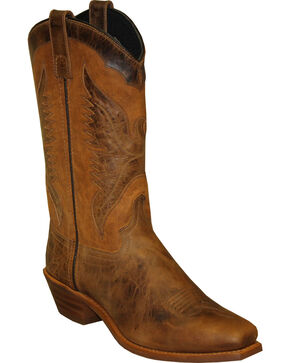 """Sage by Abilene Women's 11"""" Eagle Underlay Western Boots - Square Toe, Brown, hi-res"""