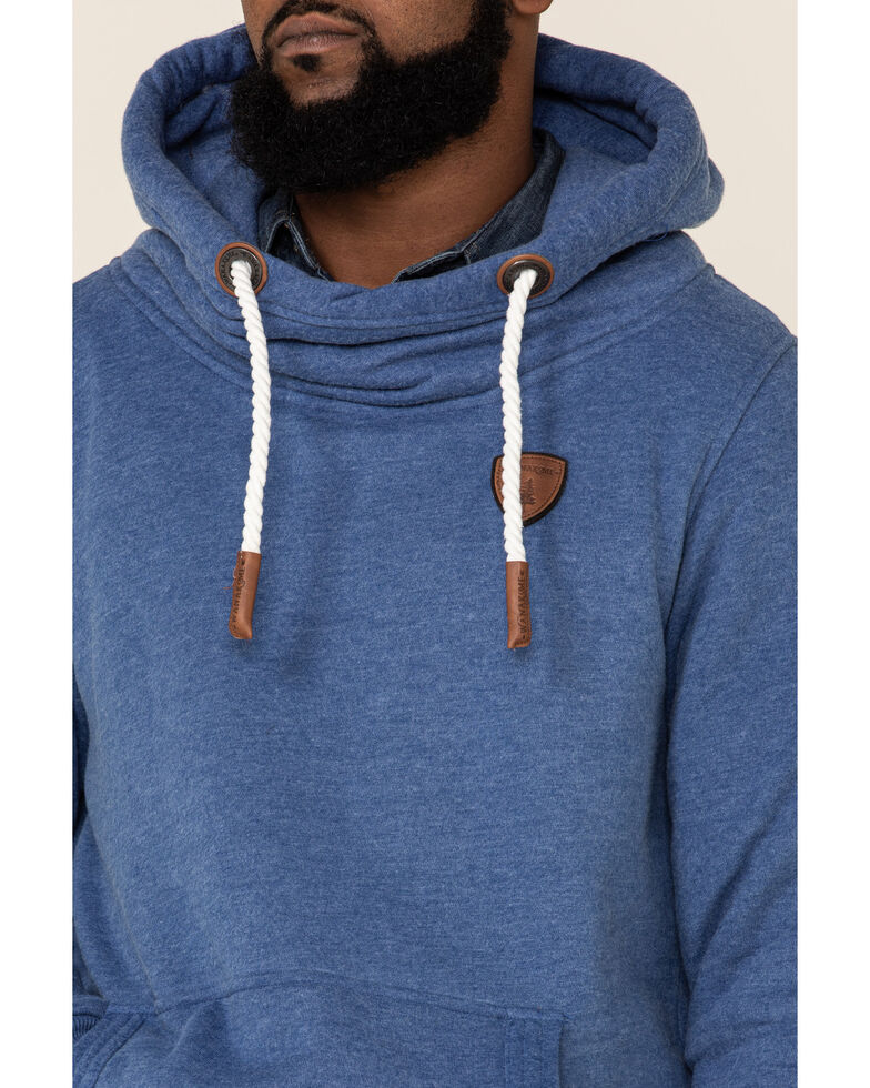 Wanakome Men's Black Cascade French Terry Hooded Sweatshirt , Navy, hi-res