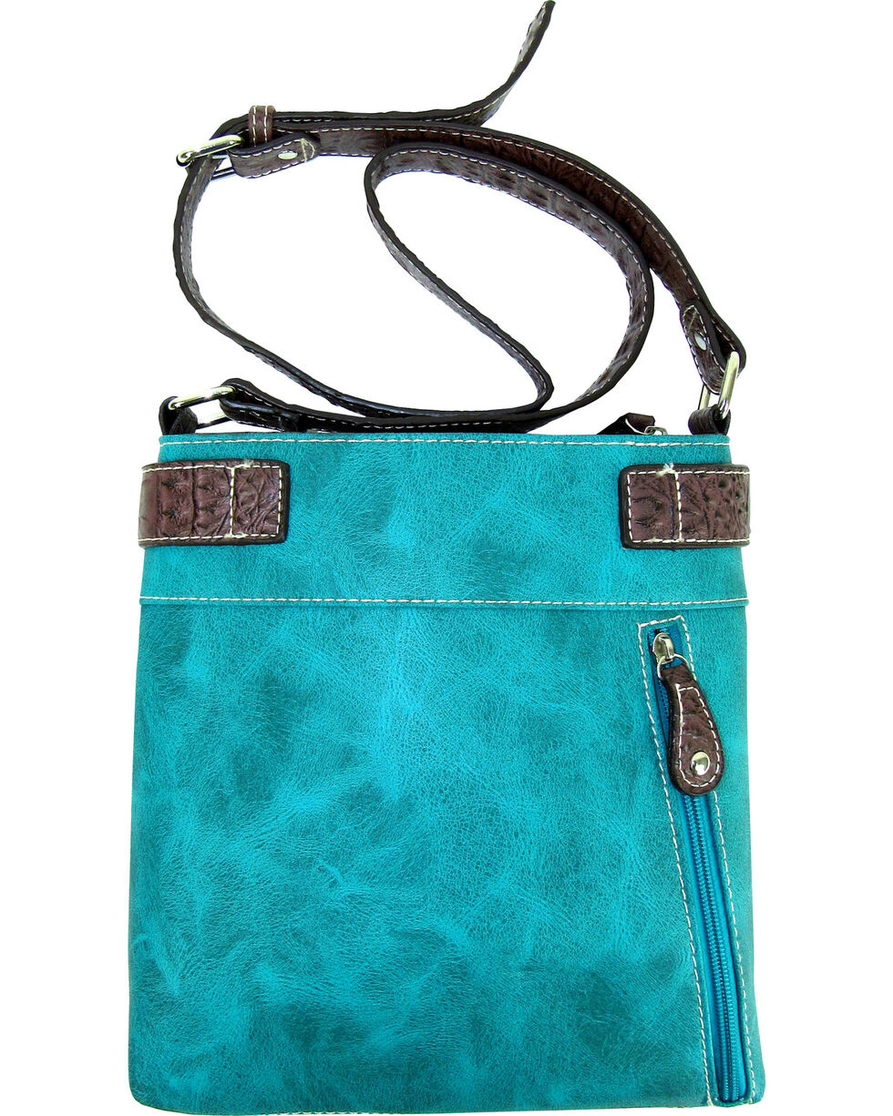 Savana Turquoise Lace Embroidered Crossbody, Turquoise, hi-res
