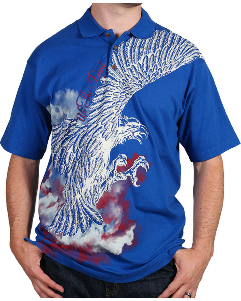Cody James Men's Screaming Eagle Polo, Navy, hi-res