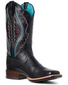 Ariat Women's Primetime Western Boots - Wide Square Toe, Black, hi-res