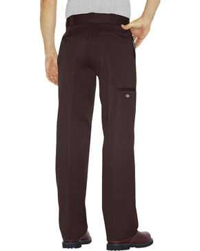 Dickies Loose Fit Double Knee Work Pants, Dark Brown, hi-res