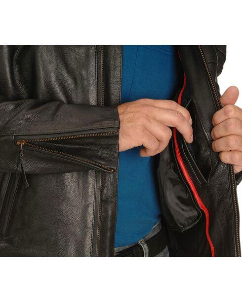 Milwaukee Motorcycle Maverick Leather Jacket, Black, hi-res