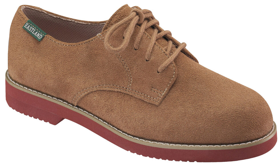 Eastland Women's Taupe Suede Buck Oxfords, , hi-res